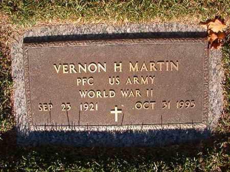 MARTIN (VETERAN WWII), VERNON H - Pulaski County, Arkansas   VERNON H MARTIN (VETERAN WWII) - Arkansas Gravestone Photos