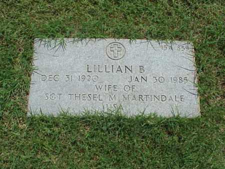 MARTINDALE, LILLIAN B - Pulaski County, Arkansas | LILLIAN B MARTINDALE - Arkansas Gravestone Photos