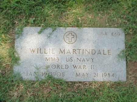MARTINDALE (VETERAN WWII), WILLIE - Pulaski County, Arkansas | WILLIE MARTINDALE (VETERAN WWII) - Arkansas Gravestone Photos