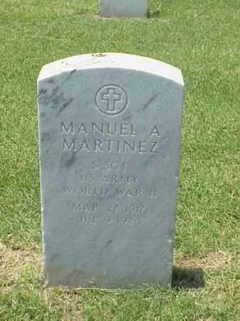 MARTINEZ (VETERAN WWII), MANUEL A - Pulaski County, Arkansas | MANUEL A MARTINEZ (VETERAN WWII) - Arkansas Gravestone Photos