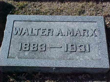 MARX, WALTER A - Pulaski County, Arkansas   WALTER A MARX - Arkansas Gravestone Photos