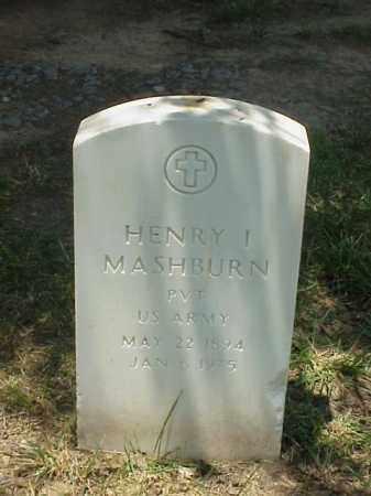 MASHBURN (VETERAN WWI), HENRY I - Pulaski County, Arkansas | HENRY I MASHBURN (VETERAN WWI) - Arkansas Gravestone Photos