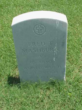 MASHBURN (VETERAN WWII), FRED T - Pulaski County, Arkansas   FRED T MASHBURN (VETERAN WWII) - Arkansas Gravestone Photos