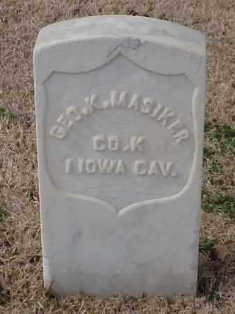 MASIKER (VETERAN UNION), GEORGE K - Pulaski County, Arkansas | GEORGE K MASIKER (VETERAN UNION) - Arkansas Gravestone Photos