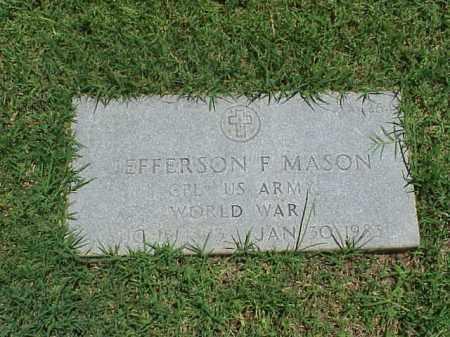 MASON (VETERAN WWI), JEFFERSON F - Pulaski County, Arkansas | JEFFERSON F MASON (VETERAN WWI) - Arkansas Gravestone Photos