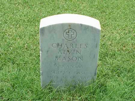 MASON (VETERAN WWII), CHARLES ALVIN - Pulaski County, Arkansas   CHARLES ALVIN MASON (VETERAN WWII) - Arkansas Gravestone Photos