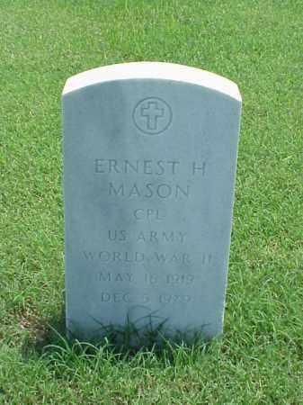 MASON (VETERAN WWII), ERNEST H - Pulaski County, Arkansas   ERNEST H MASON (VETERAN WWII) - Arkansas Gravestone Photos