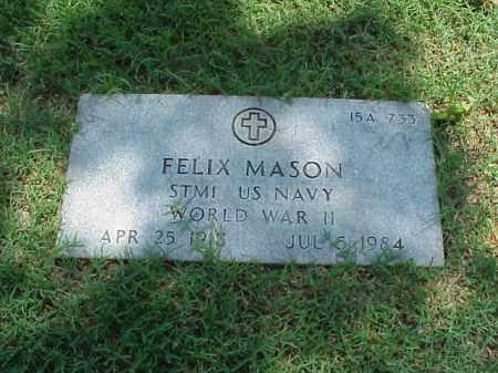 MASON (VETERAN WWII), FELIX - Pulaski County, Arkansas | FELIX MASON (VETERAN WWII) - Arkansas Gravestone Photos