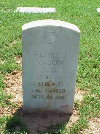 MASON (VETERAN WWII), HEZZIE J - Pulaski County, Arkansas | HEZZIE J MASON (VETERAN WWII) - Arkansas Gravestone Photos