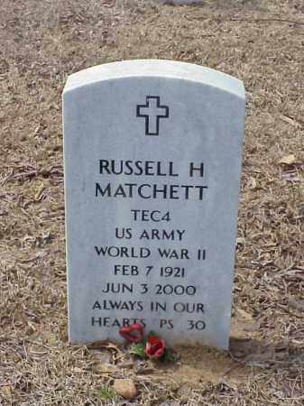 MATCHETT  (VETERAN WWII), RUSSELL H - Pulaski County, Arkansas | RUSSELL H MATCHETT  (VETERAN WWII) - Arkansas Gravestone Photos