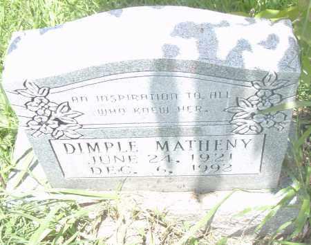 MATHENY, DIMPLE - Pulaski County, Arkansas   DIMPLE MATHENY - Arkansas Gravestone Photos