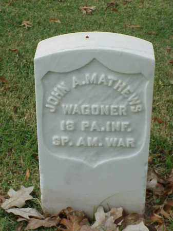 MATHEWS (VETERAN SAW), JOHN A - Pulaski County, Arkansas | JOHN A MATHEWS (VETERAN SAW) - Arkansas Gravestone Photos