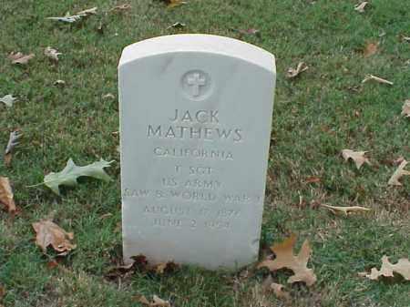 MATHEWS (VETERAN 2 WARS), JACK - Pulaski County, Arkansas | JACK MATHEWS (VETERAN 2 WARS) - Arkansas Gravestone Photos