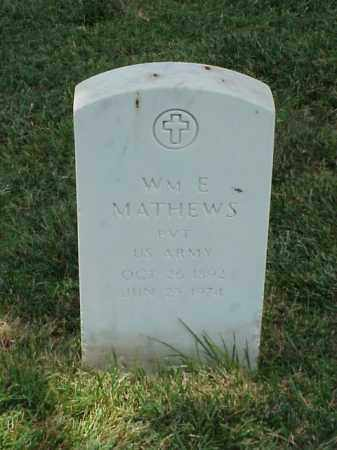 MATHEWS (VETERAN WWI), WILLIAM E - Pulaski County, Arkansas | WILLIAM E MATHEWS (VETERAN WWI) - Arkansas Gravestone Photos