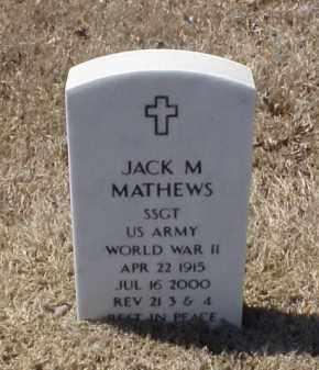 MATHEWS (VETERAN WWII), JACK M - Pulaski County, Arkansas   JACK M MATHEWS (VETERAN WWII) - Arkansas Gravestone Photos