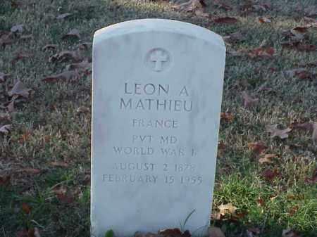 MATHIEU (VETERAN WWI), LEON A - Pulaski County, Arkansas | LEON A MATHIEU (VETERAN WWI) - Arkansas Gravestone Photos