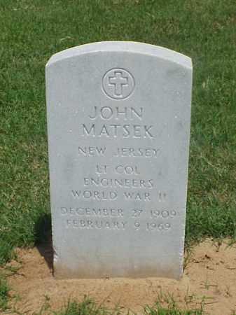 MATSEK (VETERAN WWII), JOHN - Pulaski County, Arkansas | JOHN MATSEK (VETERAN WWII) - Arkansas Gravestone Photos