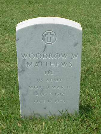 MATTHEWS (VETERAN WWII), WOODROW W - Pulaski County, Arkansas | WOODROW W MATTHEWS (VETERAN WWII) - Arkansas Gravestone Photos