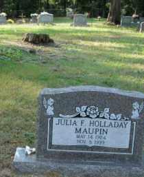 HOLLADAY MAUPIN, JULIA F - Pulaski County, Arkansas | JULIA F HOLLADAY MAUPIN - Arkansas Gravestone Photos