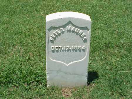 MAURER (VETERAN UNION), PETER - Pulaski County, Arkansas | PETER MAURER (VETERAN UNION) - Arkansas Gravestone Photos