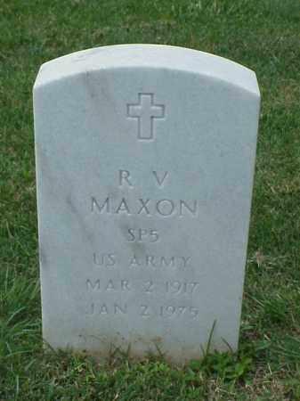 MAXON (VETERAN 2 WARS), R V - Pulaski County, Arkansas | R V MAXON (VETERAN 2 WARS) - Arkansas Gravestone Photos