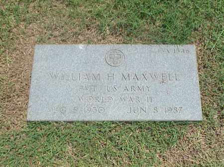 MAXWELL (VETERAN WWII), WILLIAM H - Pulaski County, Arkansas | WILLIAM H MAXWELL (VETERAN WWII) - Arkansas Gravestone Photos