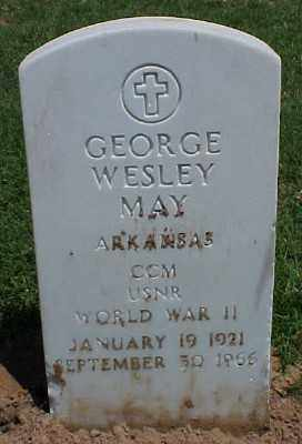 MAY (VETERAN WWII), GEORGE WESLEY - Pulaski County, Arkansas | GEORGE WESLEY MAY (VETERAN WWII) - Arkansas Gravestone Photos
