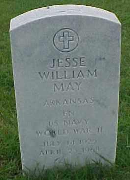 MAY (VETERAN WWII), JESSE WILLIAM - Pulaski County, Arkansas | JESSE WILLIAM MAY (VETERAN WWII) - Arkansas Gravestone Photos