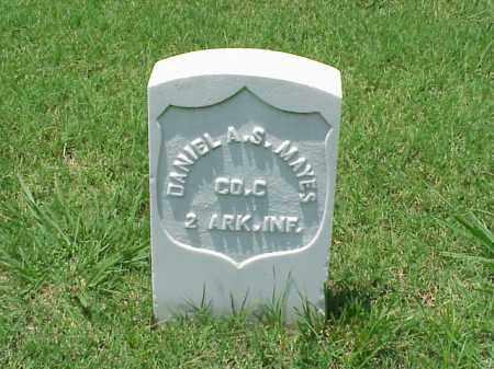 MAYES (VETERAN UNION), DANIEL A S - Pulaski County, Arkansas   DANIEL A S MAYES (VETERAN UNION) - Arkansas Gravestone Photos