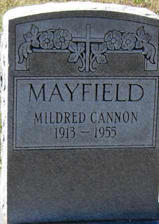 CANNON MAYFIELD, MILDRED - Pulaski County, Arkansas | MILDRED CANNON MAYFIELD - Arkansas Gravestone Photos