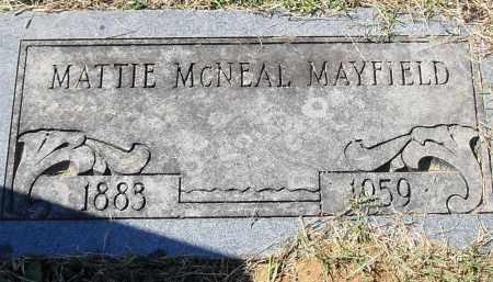 MAYFIELD, MATTIE - Pulaski County, Arkansas | MATTIE MAYFIELD - Arkansas Gravestone Photos