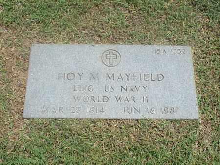 MAYFIELD (VETERAN WWII), HOY M - Pulaski County, Arkansas | HOY M MAYFIELD (VETERAN WWII) - Arkansas Gravestone Photos