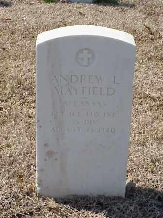 MAYFIELD (VETERAN WWI), ANDREW L - Pulaski County, Arkansas | ANDREW L MAYFIELD (VETERAN WWI) - Arkansas Gravestone Photos