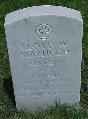 MAYHUGH (VETERAN WWI), LLOYD W - Pulaski County, Arkansas   LLOYD W MAYHUGH (VETERAN WWI) - Arkansas Gravestone Photos