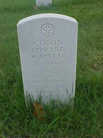 MAYO, SR (VETERAN WWI), COLON EDWARD - Pulaski County, Arkansas | COLON EDWARD MAYO, SR (VETERAN WWI) - Arkansas Gravestone Photos