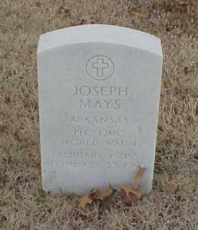 MAYS  (VETERAN WWI), JOSEPH - Pulaski County, Arkansas   JOSEPH MAYS  (VETERAN WWI) - Arkansas Gravestone Photos