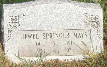 SPRINGER MAYS, JEWEL - Pulaski County, Arkansas   JEWEL SPRINGER MAYS - Arkansas Gravestone Photos