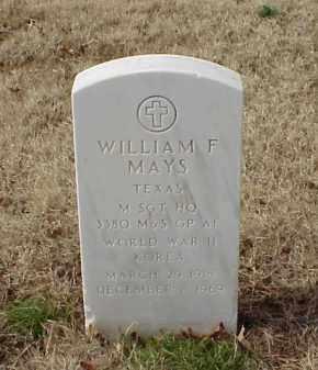 MAYS (VETERAN 2 WARS), WILLIAM F - Pulaski County, Arkansas | WILLIAM F MAYS (VETERAN 2 WARS) - Arkansas Gravestone Photos