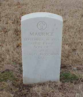 MCGOWAN, MAURICE - Pulaski County, Arkansas | MAURICE MCGOWAN - Arkansas Gravestone Photos