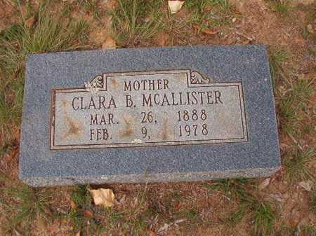 MCALLISTER, CLARA B - Pulaski County, Arkansas | CLARA B MCALLISTER - Arkansas Gravestone Photos