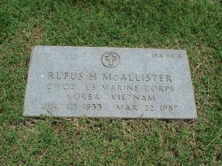 MCALLISTER (VETERAN 2 WARS), RUFUS H - Pulaski County, Arkansas   RUFUS H MCALLISTER (VETERAN 2 WARS) - Arkansas Gravestone Photos