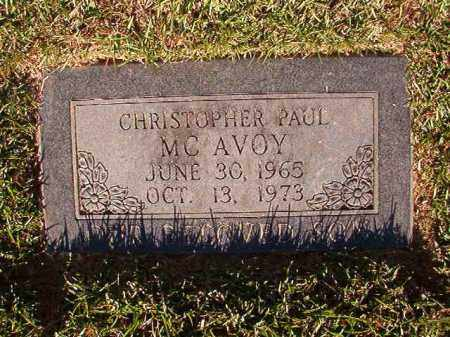 MCAVOY, CHRISTOPHER PAUL - Pulaski County, Arkansas | CHRISTOPHER PAUL MCAVOY - Arkansas Gravestone Photos