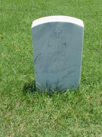 MCBEE (VETERAN WWII), ROY V - Pulaski County, Arkansas   ROY V MCBEE (VETERAN WWII) - Arkansas Gravestone Photos