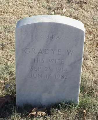 MCBETH, GRADYE W - Pulaski County, Arkansas   GRADYE W MCBETH - Arkansas Gravestone Photos
