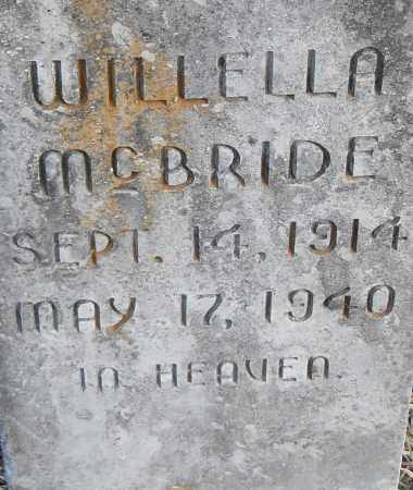 MCBRIDE, WILLELLA - Pulaski County, Arkansas | WILLELLA MCBRIDE - Arkansas Gravestone Photos