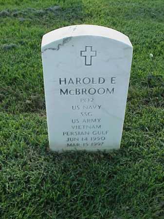 MCBROOM (VETERAN 2 WARS), HAROLD E - Pulaski County, Arkansas | HAROLD E MCBROOM (VETERAN 2 WARS) - Arkansas Gravestone Photos