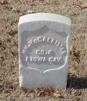 MCCALLISTER (VETERAN UNION), WILLIAM - Pulaski County, Arkansas | WILLIAM MCCALLISTER (VETERAN UNION) - Arkansas Gravestone Photos