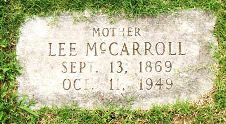 MCCARROLL, LEE - Pulaski County, Arkansas | LEE MCCARROLL - Arkansas Gravestone Photos