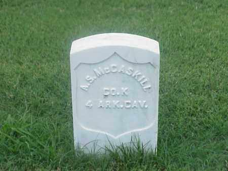 MCCASKILL (VETERAN UNION), A S - Pulaski County, Arkansas | A S MCCASKILL (VETERAN UNION) - Arkansas Gravestone Photos