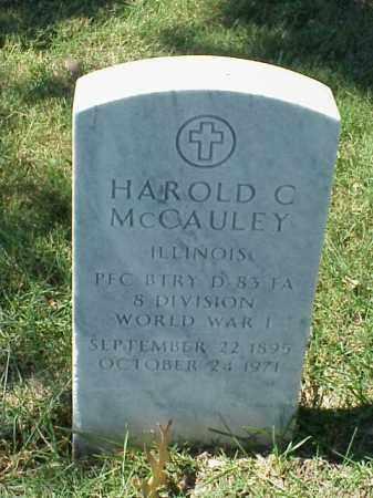 MCCAULEY (VETERAN WWI), HAROLD C - Pulaski County, Arkansas | HAROLD C MCCAULEY (VETERAN WWI) - Arkansas Gravestone Photos